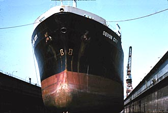 Devon City in drydock