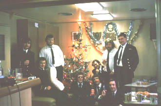 Officers in lounge