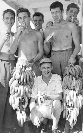 Apprentices with bananas