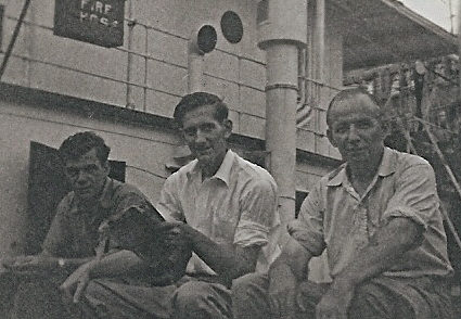 Three officers on deck