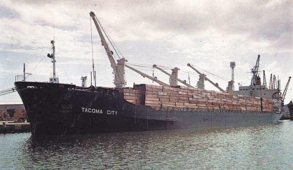 Tacoma City fully loaded with timber