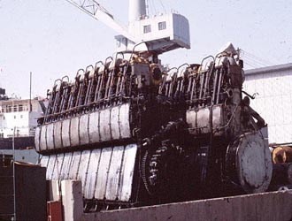 Old AO engines after removal from Welsh City