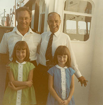John Cann, Syd Leadbetter, and John's 2 daughters